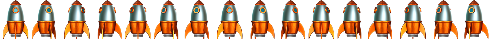 3D Rocket sprite sequence