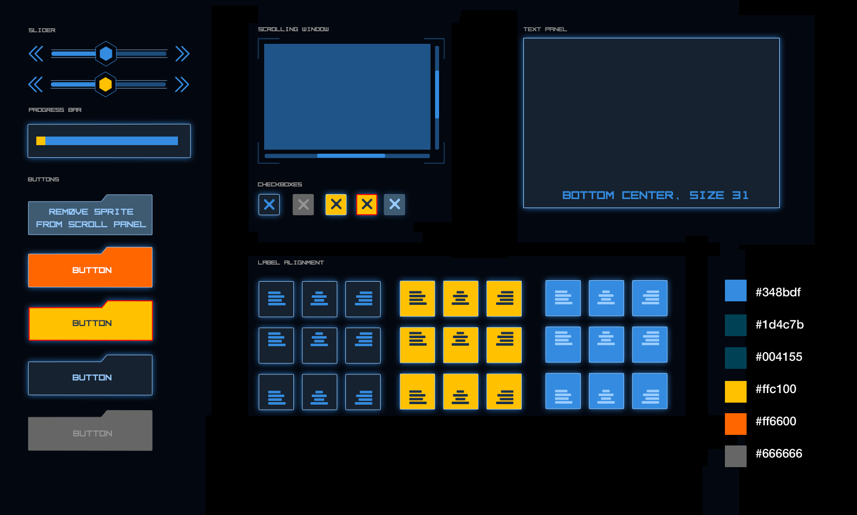 Sci-fi theme UI kit